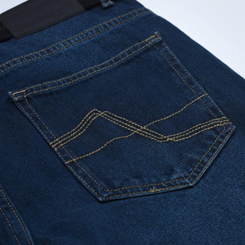 Pierre Cardin Web Belt Mens Jeans Vintage Blue