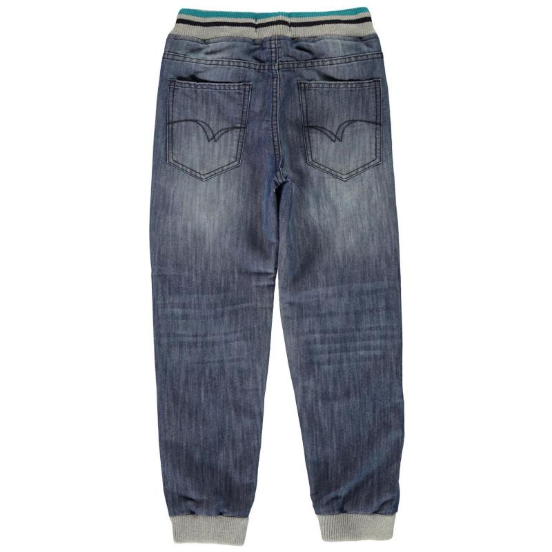 Kalhoty Lee Cooper Number Jeans Junior Boys Mid Wash