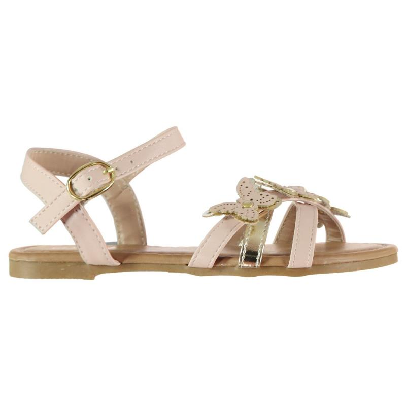 Crafted Butterfly Child Girls Sandals Pink Gold