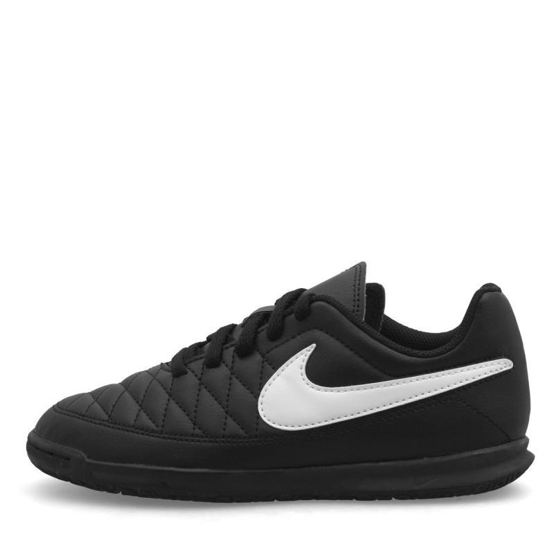 Nike Majestry IC Junior Boys Football Boots Black/White