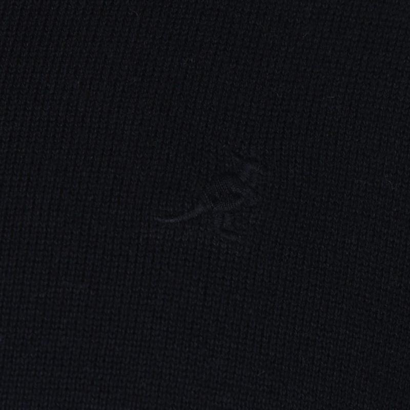 Kangol Fine V Neck Jumper Mens Black
