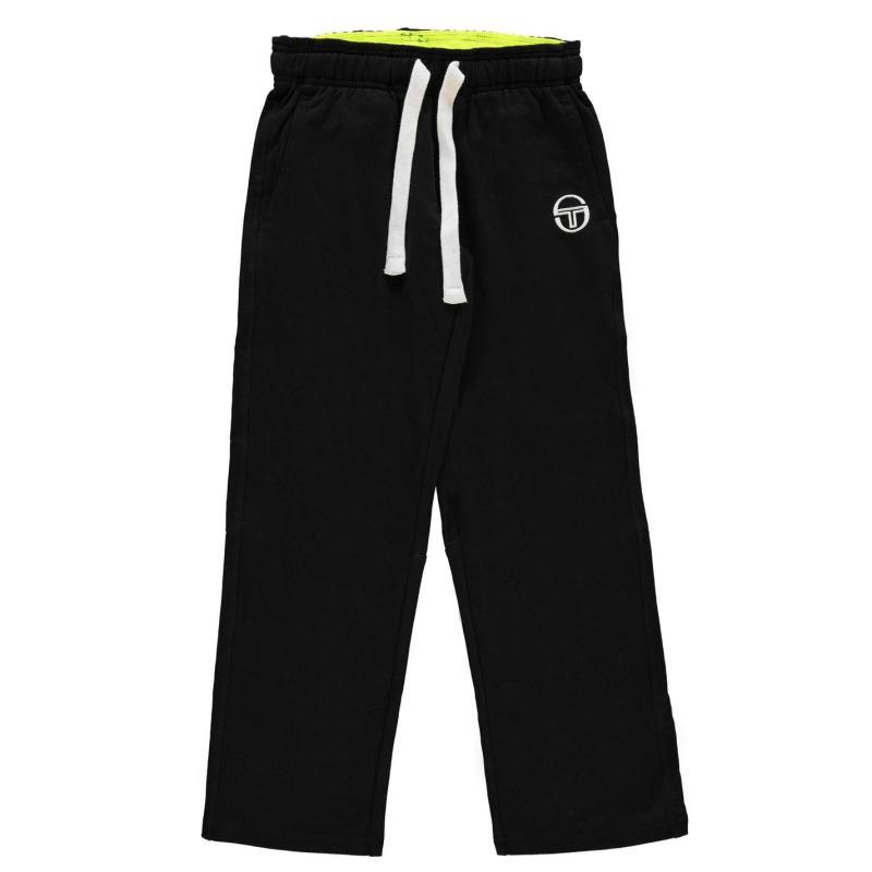 Tepláky Sergio Tacchini Elbow Track Pants Junior Boys Black/Yellow