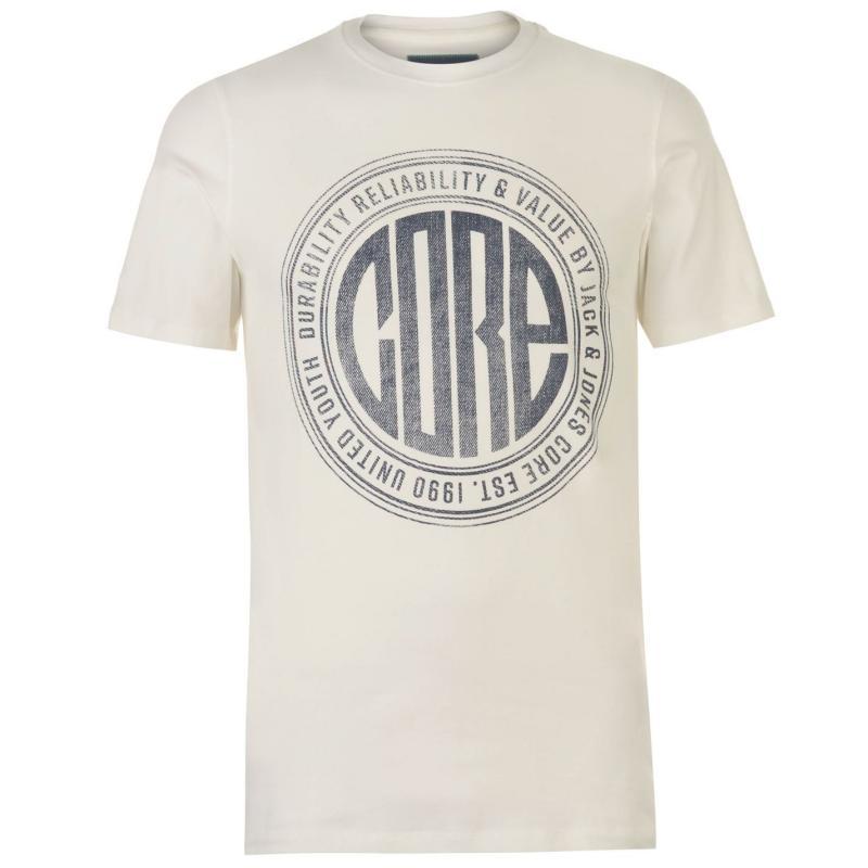 Tričko Jack and Jones Core Pressure T Shirt Cloud Dancer