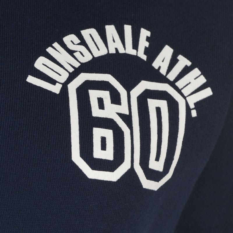 Lonsdale Stripe Zip Hoodie Ladies Navy