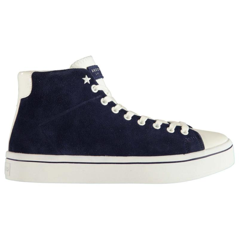 Skechers Hi Sugar Ladies Trainers Navy Suede