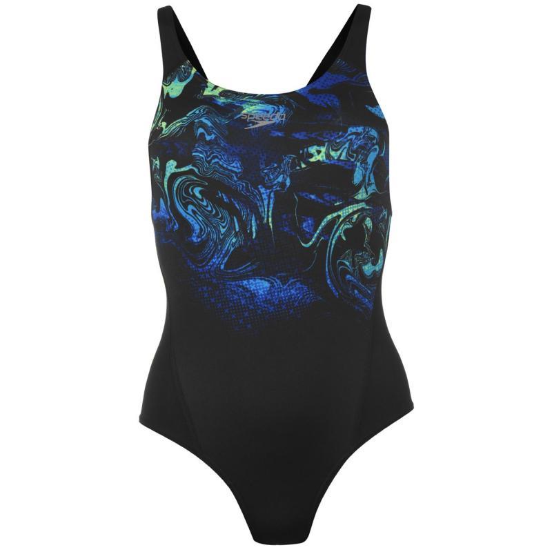 Plavky Speedo Aqua Swim Suit Ladies Black/Blue