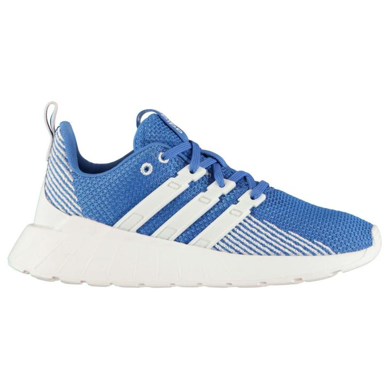 Boty adidas Questar Flow K Junior Boys Trainers Blue/Wht/Wht