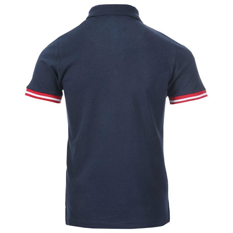 Tričko Ben Sherman Infant Boys Collar Print Polo Shirt Navy