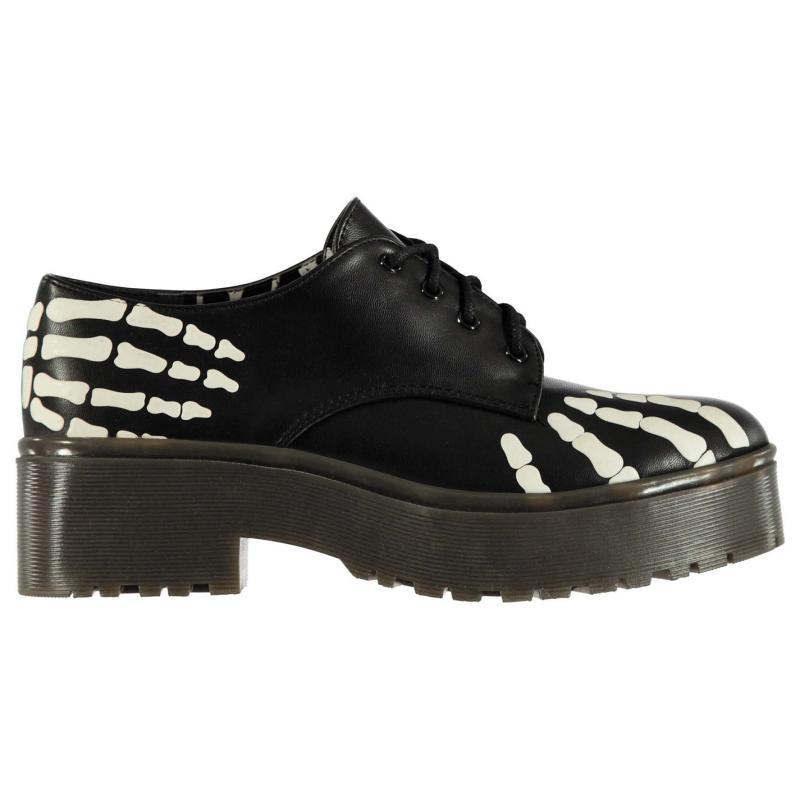 Iron Fist Robber Ladies Derby Shoes Black