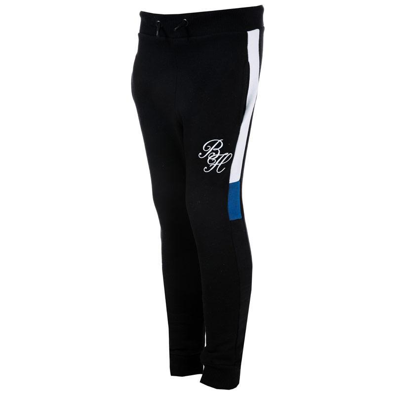 Kalhoty Beck And Hersey Junior Boys Blackfriers Jog Pants black blue