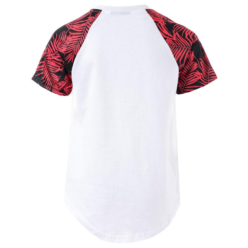 Tričko Beck And Hersey Junior Boys Cable T-Shirt White red