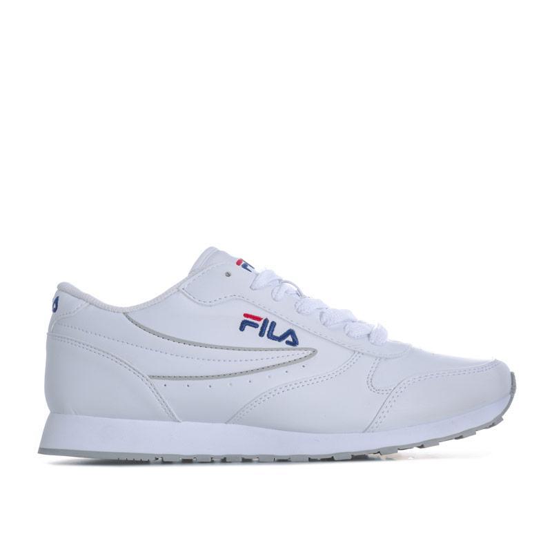 Fila Mens Orbit Low Trainers White