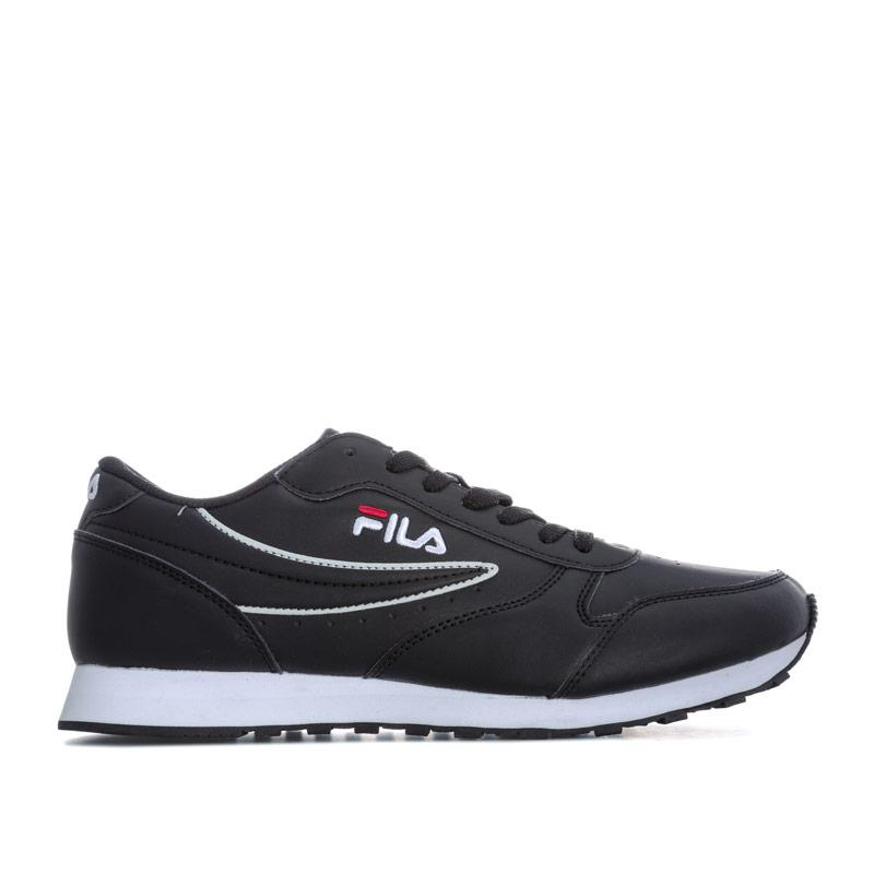 Fila Mens Orbit Low Trainers Black