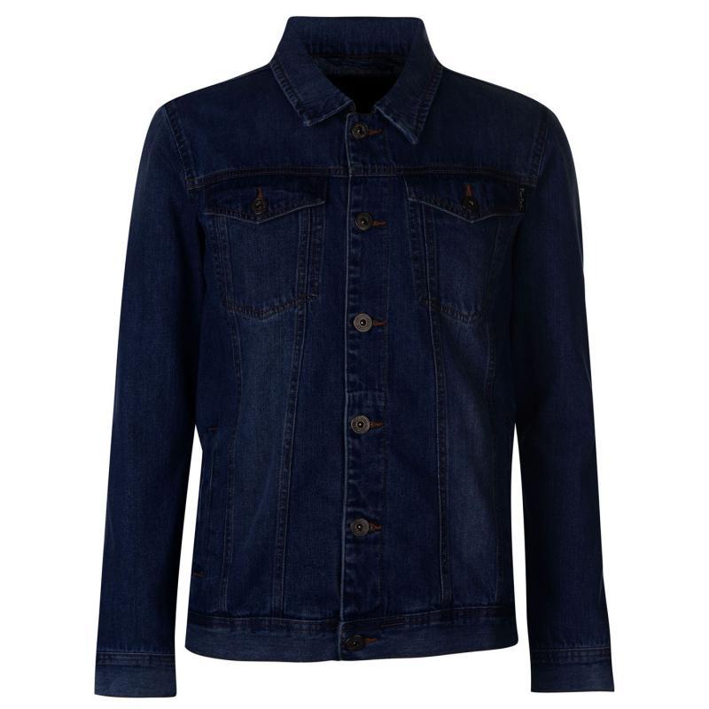 Pierre Cardin Denim Jacket Mens Rinse Wash