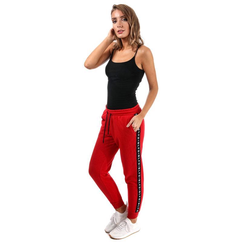 Sportovní kalhoty BLFD Womens Side Tape Jog Pants Red