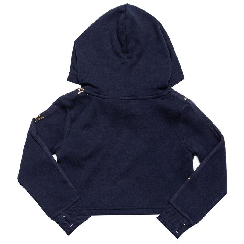 Bench Infant Girls Crop Hoody Navy