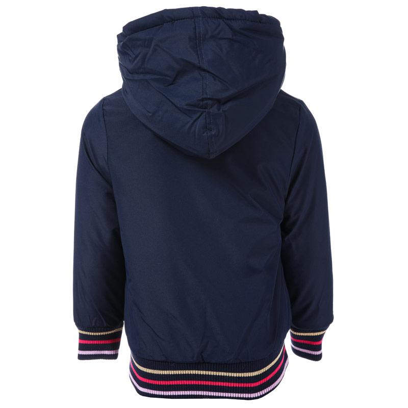 Bench Junior Girls Nylon Hooded Jacket Navy