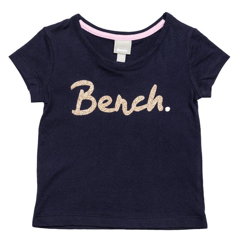 Bench Junior Girls Printed T-Shirt Navy