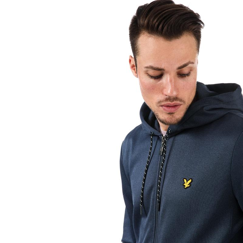 Mikina Lyle And Scott Sport Mens Shaw Full Zip Hooded Top Navy