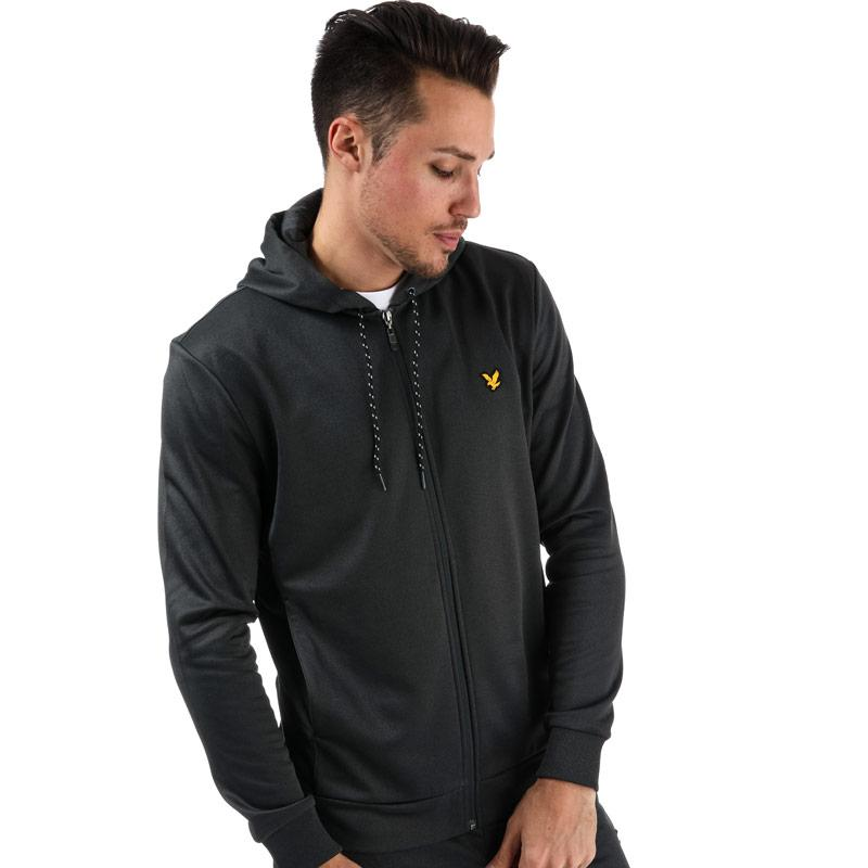 Mikina Lyle And Scott Sport Mens Shaw Full Zip Hooded Top Black