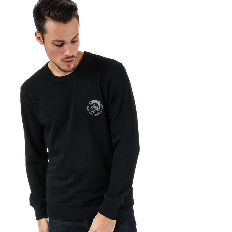 Mikina Diesel Mens Willy Sweatshirt Black