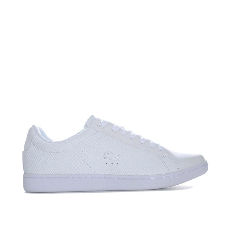 Lacoste Womens Carnaby Evo Leather Trainers White