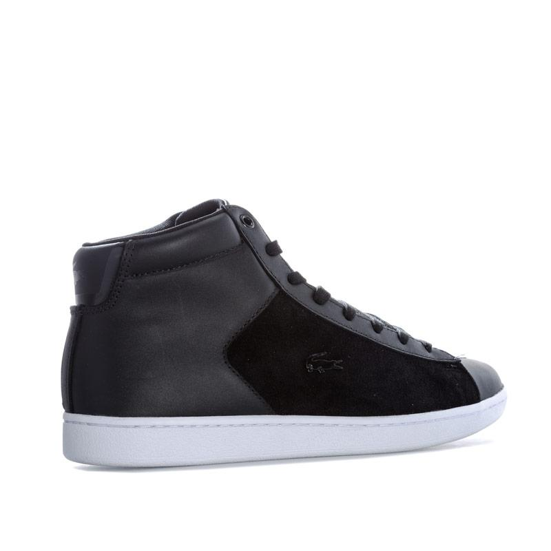 Lacoste Womens Carnaby Evo Mid Trainers Black-White