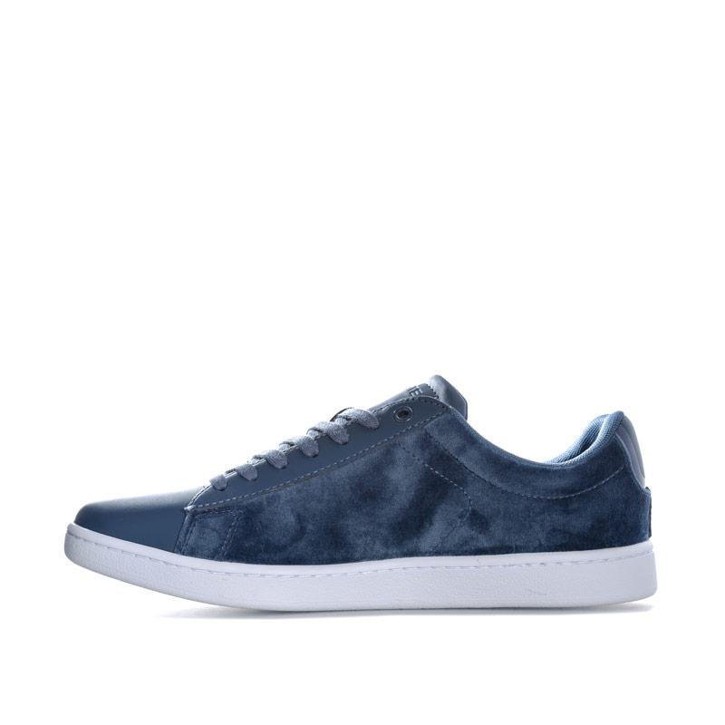 Lacoste Womens Carnaby Evo Trainers Dark Blue