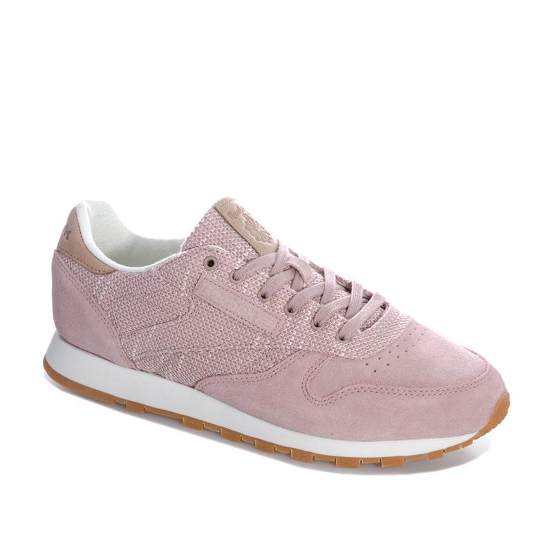 Reebok Classics Womens Classic Leather EBK Trainers Pink