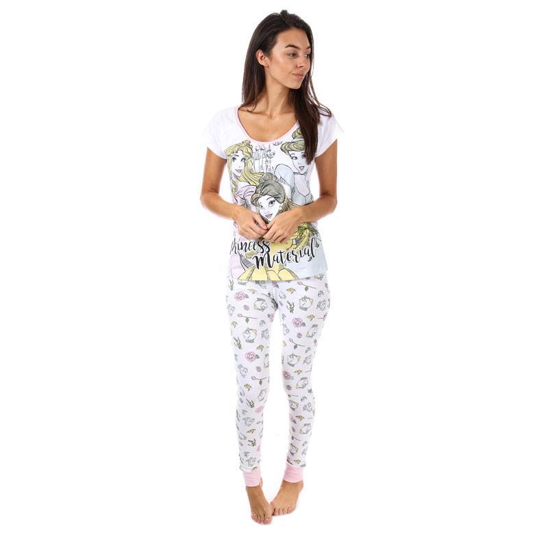 Pyžama Womens Disney Princess Pyjamas White