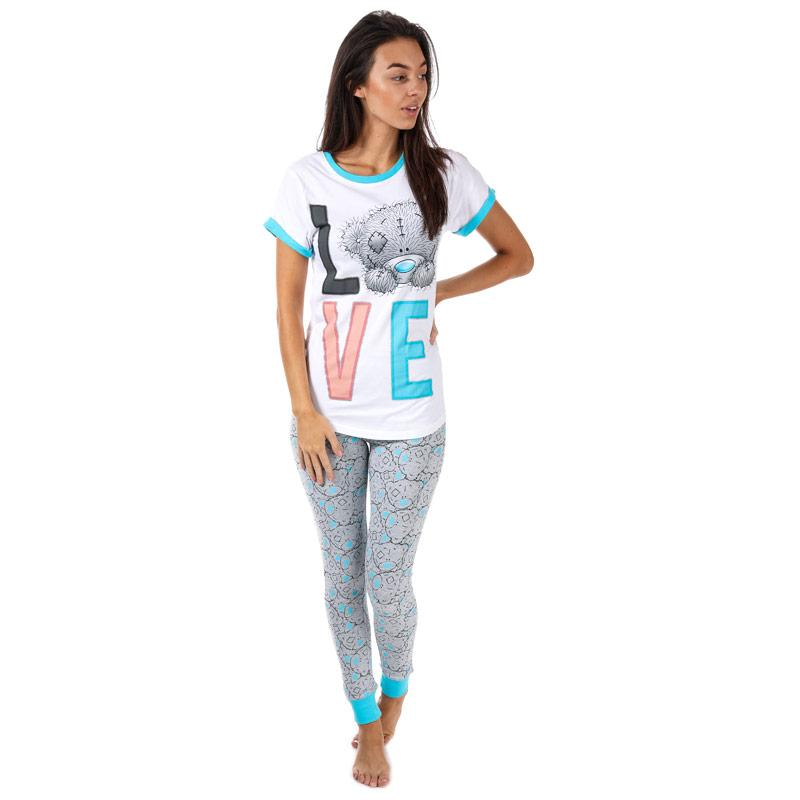 Pyžama Me To You Womens Tatty Teddy Love Pyjamas Blue