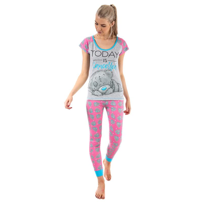 Pyžama Me To You Womens Tatty Teddy Pyjamas Pink