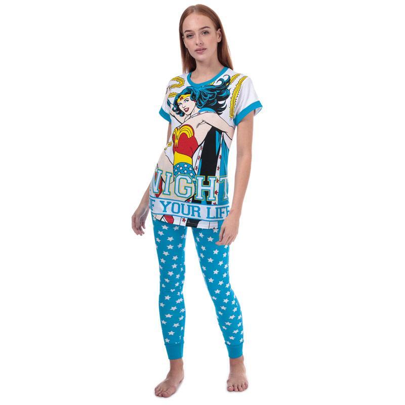 Pyžama DC Comics Womens Wonder Woman Pyjamas Blue