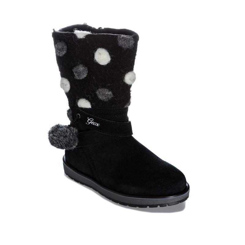 Geox Children Girls Noha Boots Black
