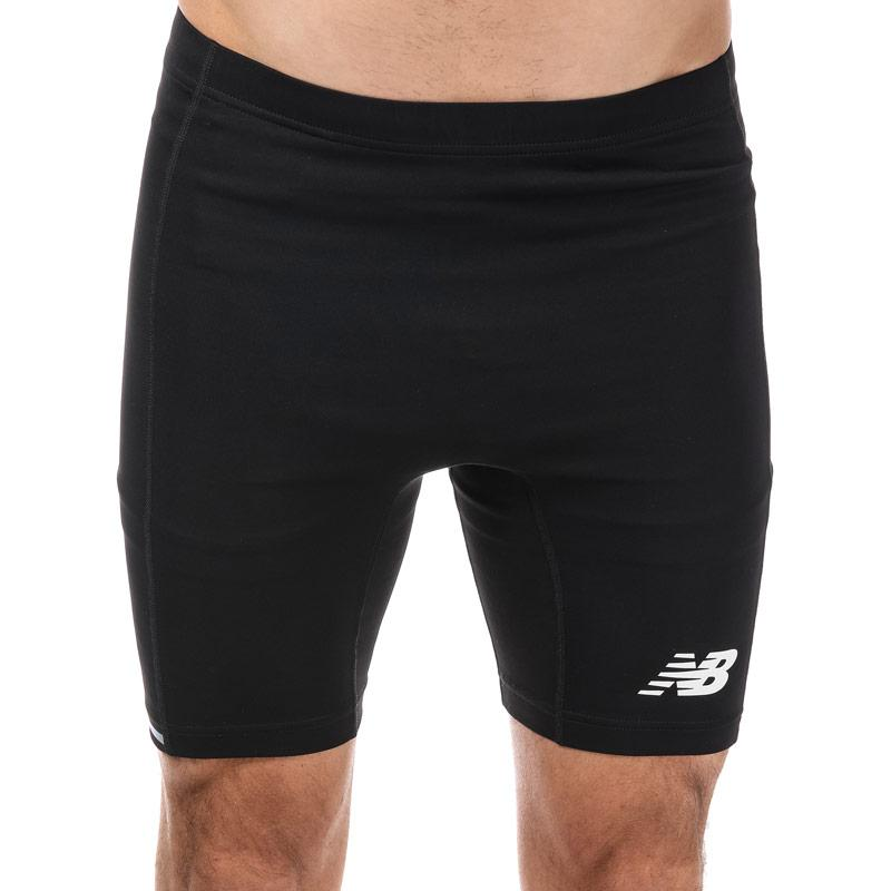 New Balance Mens Accelerate 8in Fitted Short Black