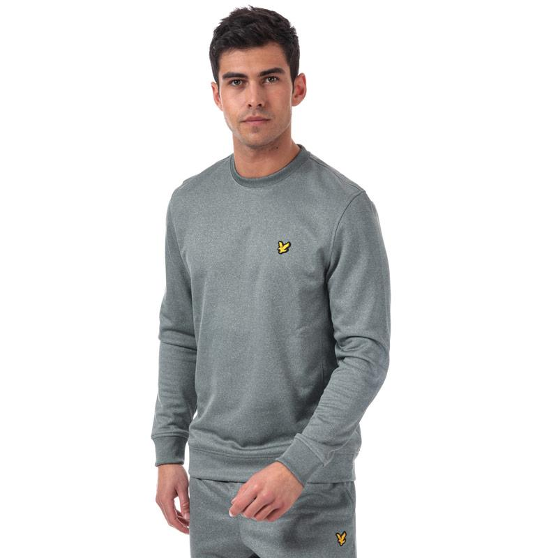 Mikina Lyle And Scott Sport Mens Braid Fleece Crew Sweat olive