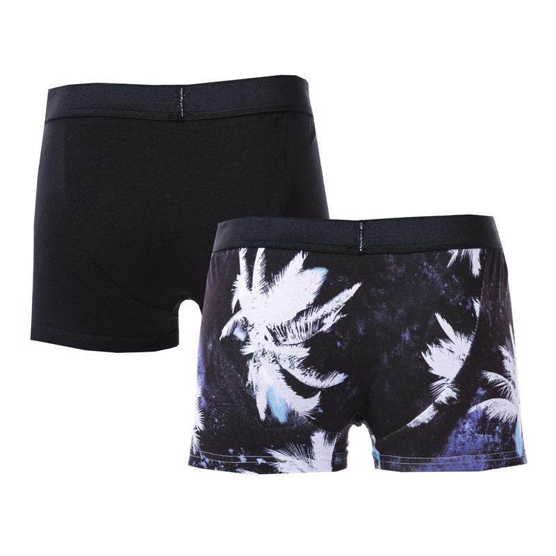 Spodní prádlo Religion Mens Tropiz 2 Pack Boxer Shorts Black