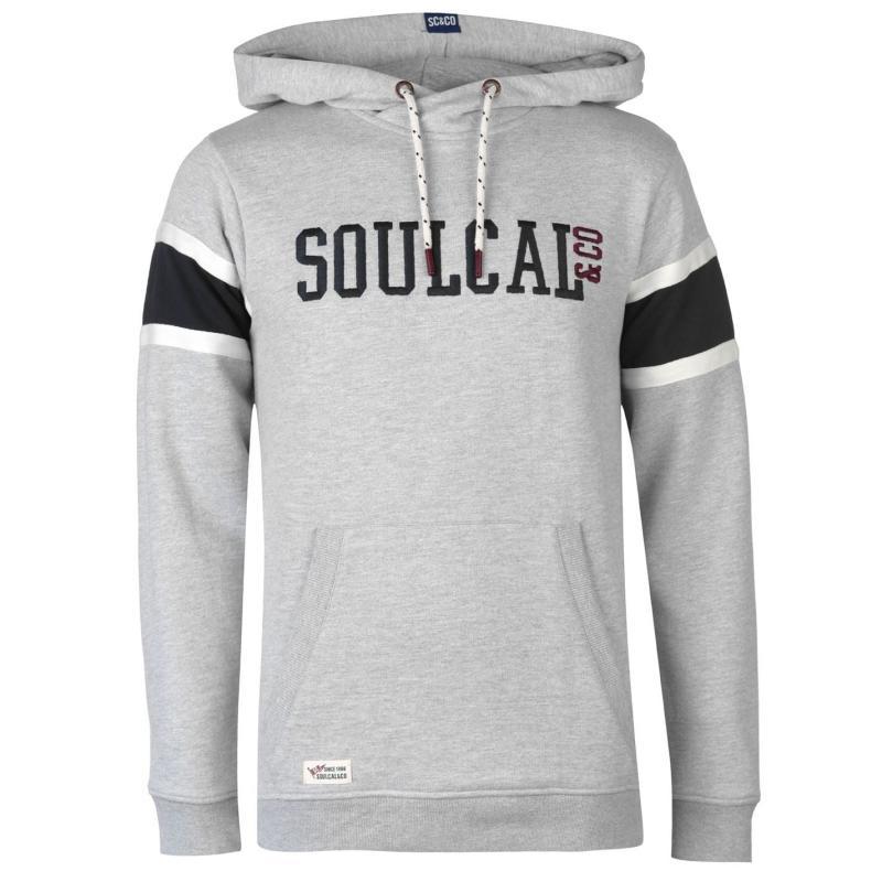 Mikina SoulCal Logo Hoody Mens Grey Marl