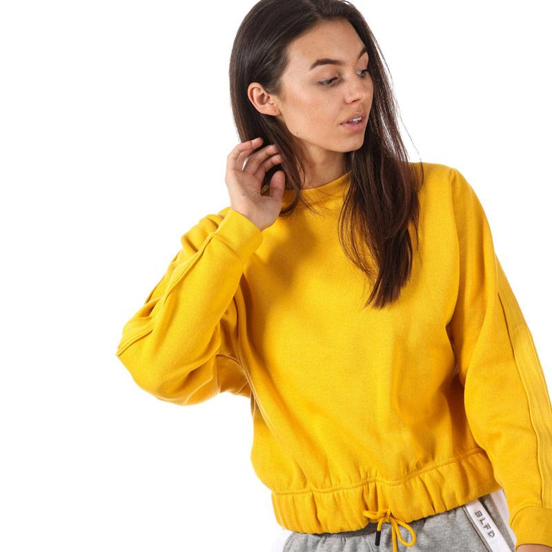 Mikina BLFD Womens Batwing Sweat With Sleeve Tape Yellow