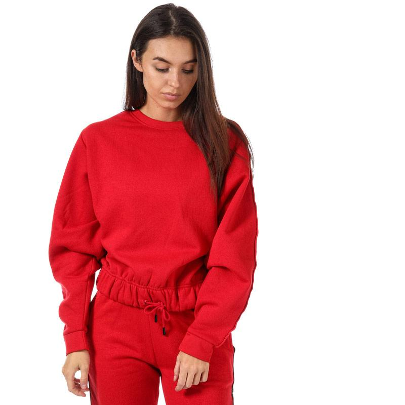 Mikina BLFD Womens Batwing Sweat With Sleeve Tape Red