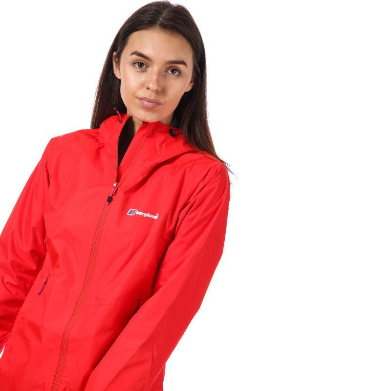 Berghaus Womens Deluge Light Waterproof Jacket Red