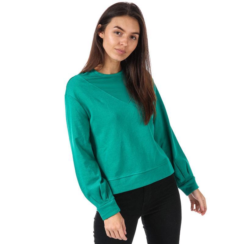 Mikina Only Womens Elsebeth Mesh Insert Crew Sweatshirt Black