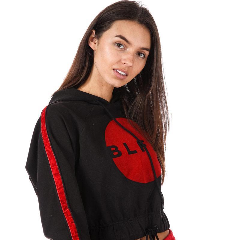 Mikina s kapucí BLFD Womens Flocked Cropped Hoody Black