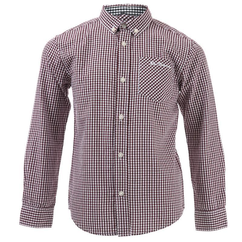 Košile Ben Sherman Infant Boys Classic LS Gingham Shirt Black