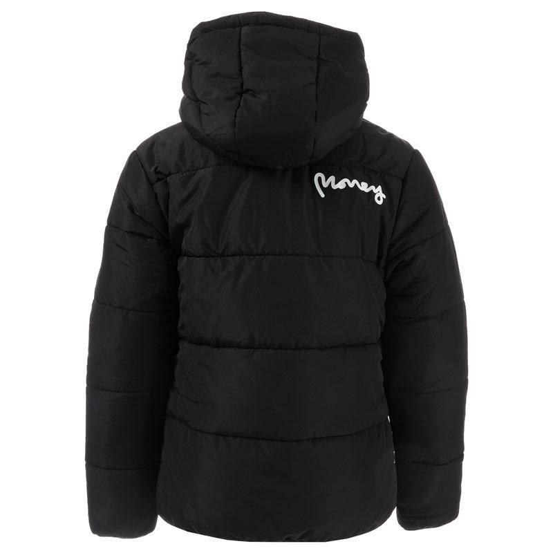 Bunda Money Junior Boys Black Label Puffa Jacket Black