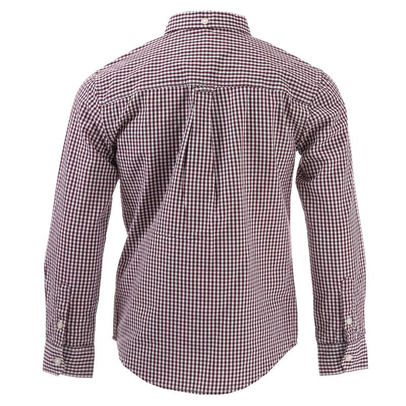 Košile Ben Sherman Junior Boys Classic LS Gingham Shirt Port