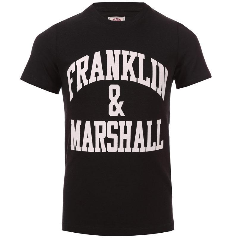 Tričko Franklin And Marshall Junior Boys F & M Logo T-Shirt Black