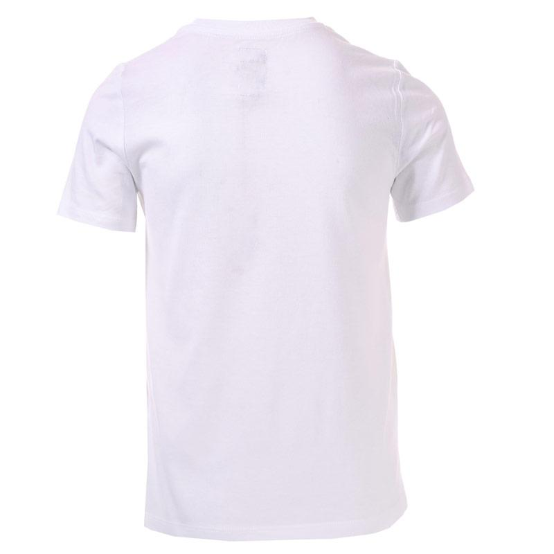 Tričko Franklin And Marshall Junior Boys F & M Logo T-Shirt White