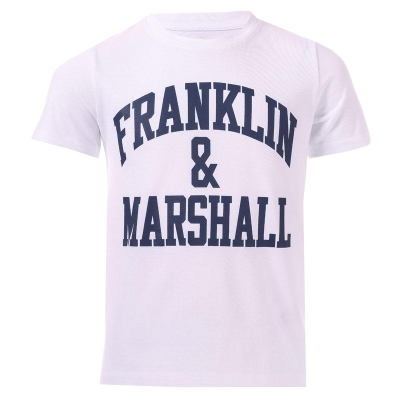 Tričko Franklin And Marshall Junior Boys F & M Logo T-Shirt Navy