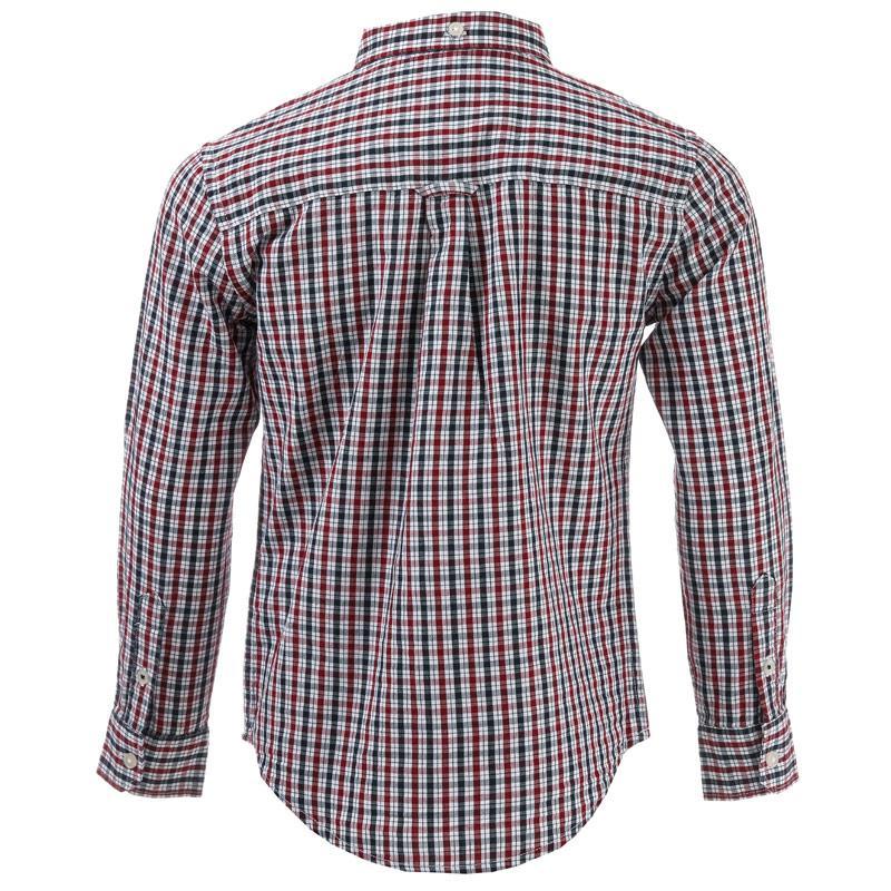 Košile Ben Sherman Junior Boys LS House Check Poplin Shirt Red